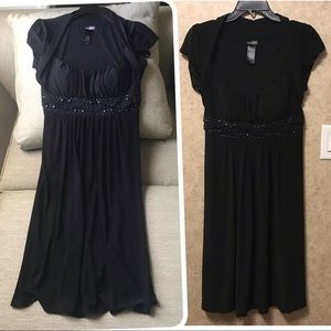 Bisou Bisou Women Evening Party Dress Black Sz 10